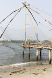 Chinese fishing nets (Cheena vala) in fort Kochin, Kerala, India Stock Images