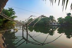 Chinese fishing nets Cheena vala, Kochi district Stock Images