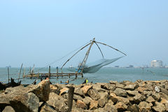 Chinese fishing nets, Cochin, South India Royalty Free Stock Photography