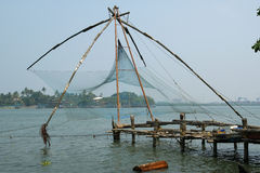 Chinese fishing nets, Cochin, South India Stock Image