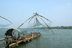 Chinese fishing nets, Cochin, South India Stock Photos