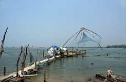 Chinese fishing nets, Cochin, South India Royalty Free Stock Image