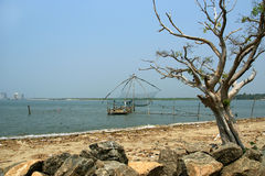 Chinese fishing nets, Cochin, South India Stock Images