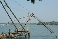Chinese fishing nets, Cochin, South India Royalty Free Stock Photo