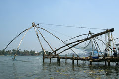 Chinese fishing nets, Cochin, South India Royalty Free Stock Image