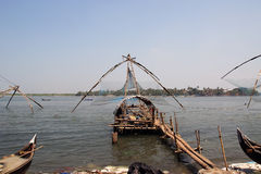 Chinese fishing nets, Cochin, South India Royalty Free Stock Photos