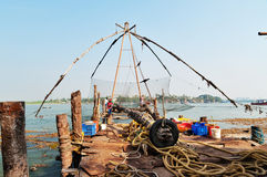 Chinese Fishing nets. In Fort Kochi. Kerala. India Royalty Free Stock Image