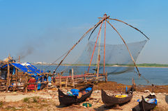 Chinese Fishing nets Royalty Free Stock Images