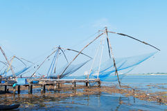 Chinese Fishing nets. In Fort Kochi. Kerala. India Stock Images