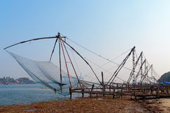 Chinese Fishing nets. In Fort Kochi. Kerala. India Stock Photos