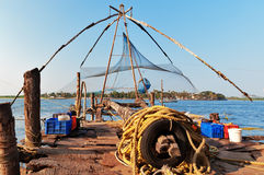 Chinese Fishing nets. In Fort Kochi. Kerala. India Stock Image