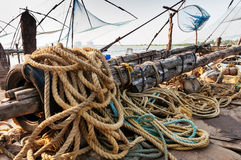 Chinese Fishing nets. In Fort Kochi. Kerala. India Stock Photo