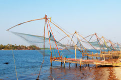 Chinese Fishing nets. In Fort Kochi. Kerala. India Royalty Free Stock Images