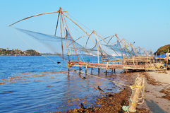 Chinese Fishing nets. In Fort Kochi. Kerala. India Stock Photography