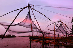 Chinese fishing nets in Fort Kochi Royalty Free Stock Image
