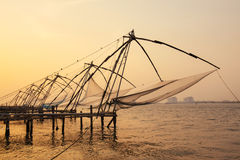 Chinese fishing nets in Fort Kochi Royalty Free Stock Photo