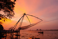 Free Chinese Fishing Nets In Fort Kochi Royalty Free Stock Photos - 63410788
