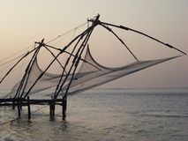 Chinese Fishing Nets - Kerala Stock Photography