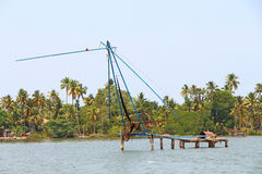 The Chinese fishing nets. Kerala Backwaters Stock Images