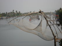 Chinese fishing nets. In Kerala, India Stock Photos