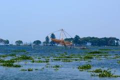 Chinese fishing nets. Vembanad Lake Stock Images