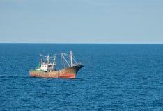 Chinese fishing trawler off the coast of China royalty free stock photo