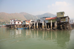 Chinese fishing village Stock Image