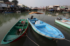 Chinese fishing village Stock Photography