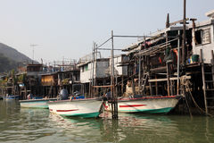 Chinese fishing village Royalty Free Stock Image
