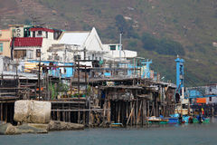 Chinese fishing village. Hong Kong Stock Image
