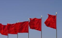 Chinese flag. Waving flag of china - Chinese flag Stock Images