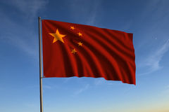 Chinese Flag Stock Image