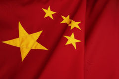 Chinese Flag. Republic of China Flag- yellow stars on red field Royalty Free Stock Photos