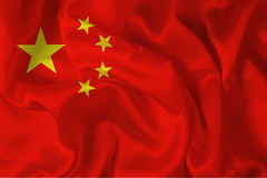 Chinese flag - digital. Chinese silky flag - digital illustration Stock Photography