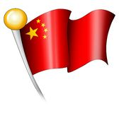 Chinese Flag Illustration Royalty Free Stock Photo