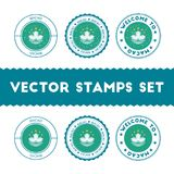 Chinese flag rubber stamps set. Stock Photo