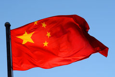 Chinese Flag in a Sunlight Royalty Free Stock Photography