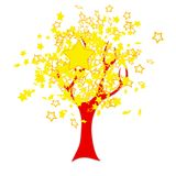 Chinese flag tree Royalty Free Stock Photography