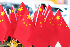 Chinese flags Royalty Free Stock Photo