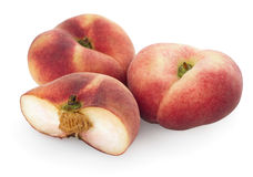 Chinese flat peaches with half Royalty Free Stock Images