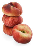 Chinese flat peaches with half Royalty Free Stock Photo
