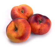 Chinese flat peaches nectarine Stock Image