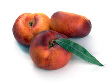 Chinese flat peaches nectarine Stock Images