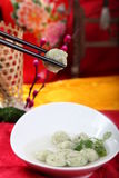 Chinese flavor of fish meat ball Royalty Free Stock Photo