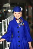 Chinese flight attendant Royalty Free Stock Images