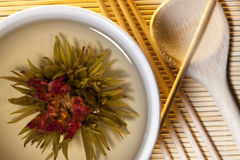 Chinese Floral Green Tea stock image