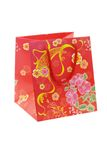 Chinese floral pattern gift bag Stock Image