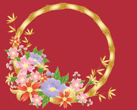 Chinese flower background vector illustration
