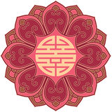 Chinese Flower Design Element. Oriental Chinese Flower Design Element royalty free illustration