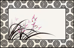 Chinese flower drawing Stock Photography